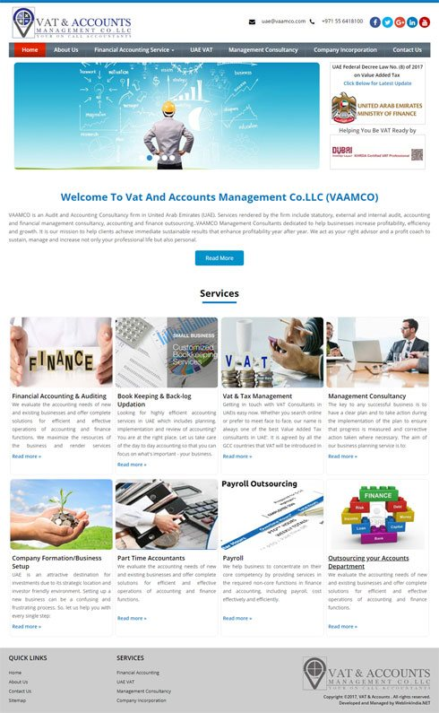 VAAMCO United Arab Emirates Web Design