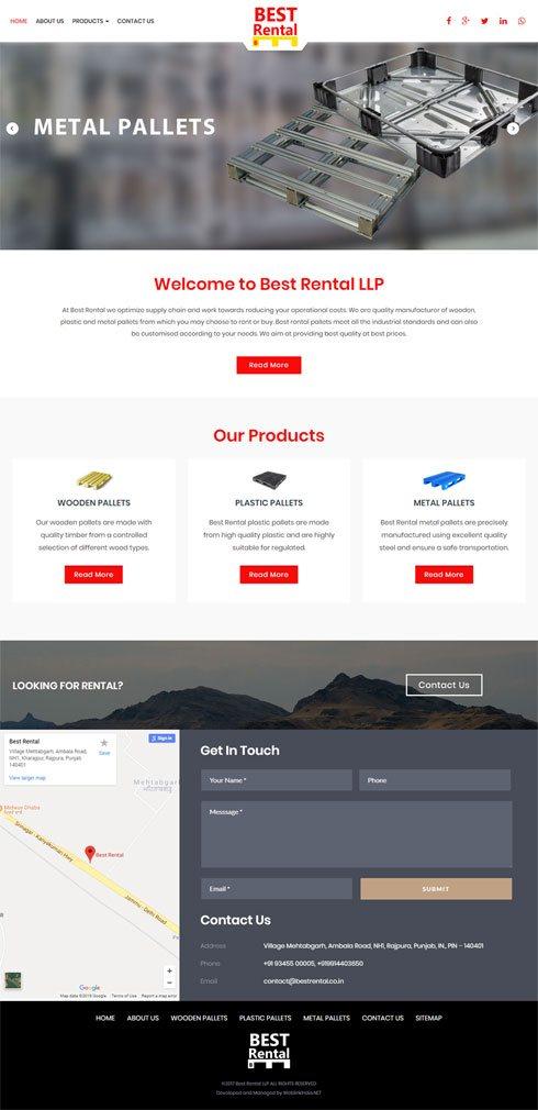 Best Rental LLP India Web Design