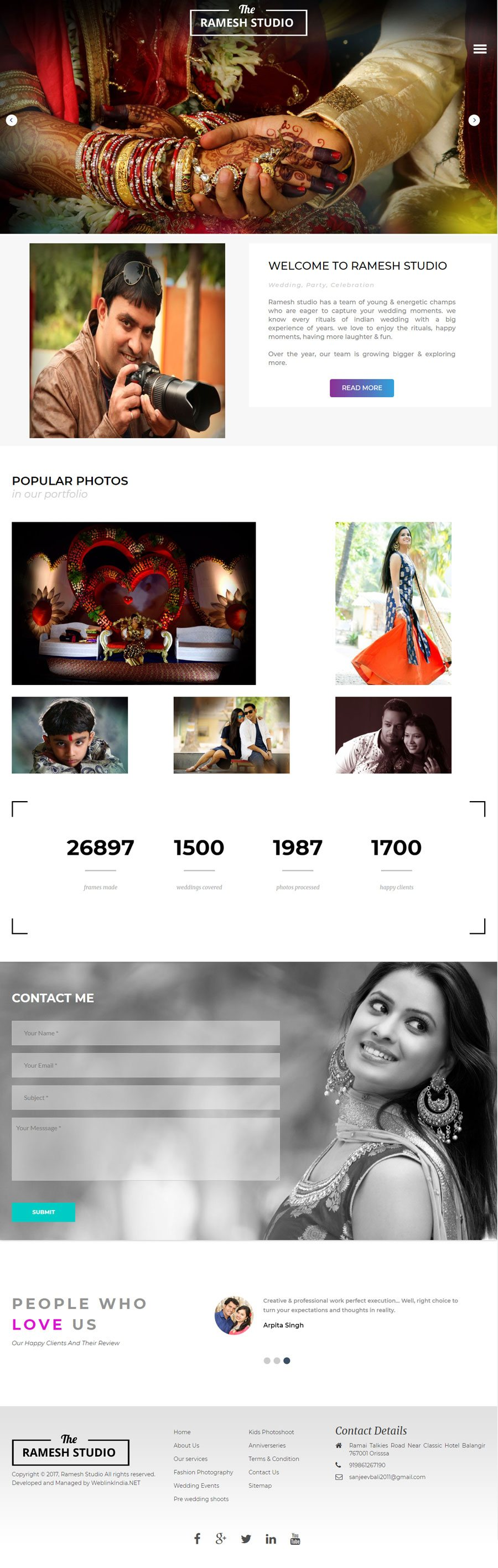Ramesh Studio India Web Design