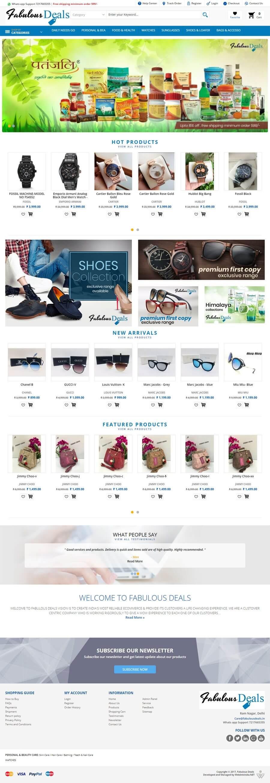 FABULOUS DEALS - Web Design Portfolio