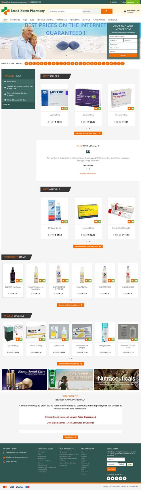 Brand Name Pharmacy Canada Web Design