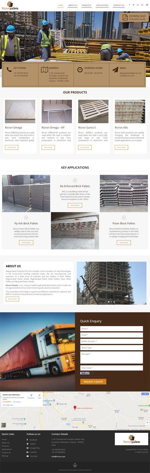 Ricron Pallets India Web Design