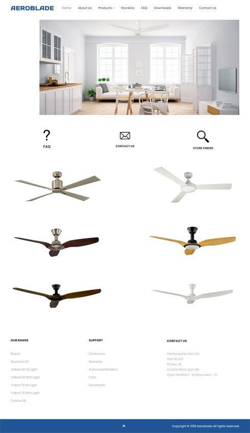 Aeroblade Australia Web Design