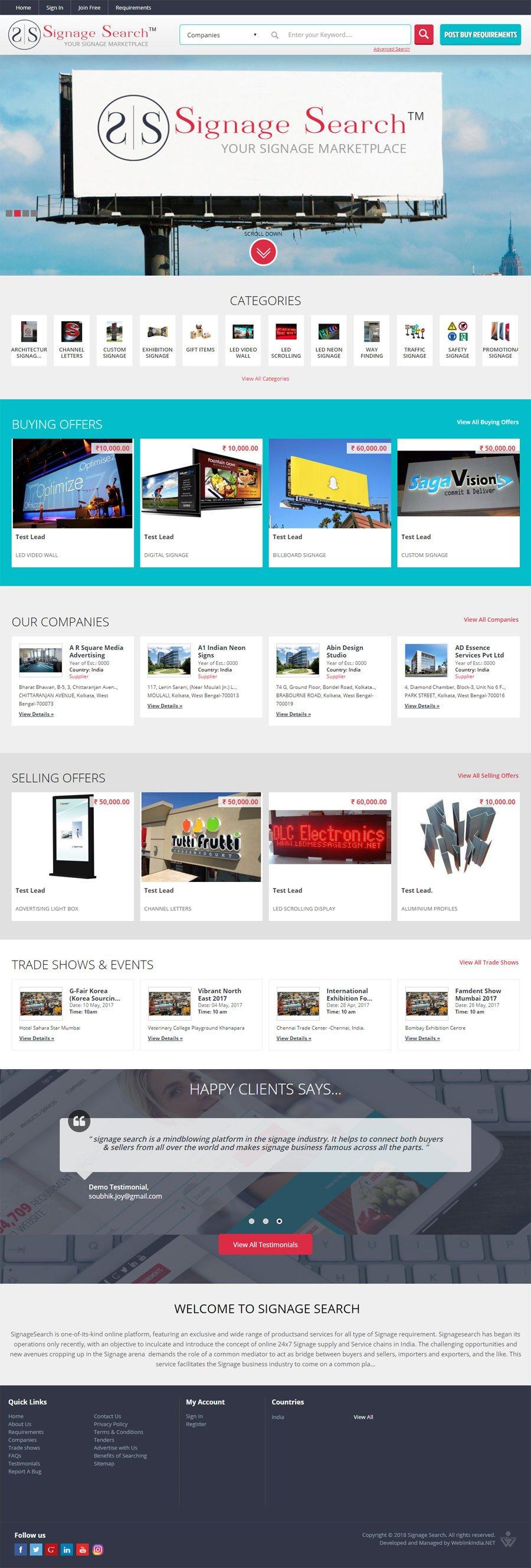 SIGNAGE SEARCH - Web Design Portfolio