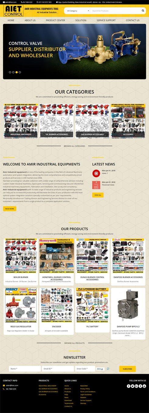 AIET Control Expert United Arab Emirates Web Design