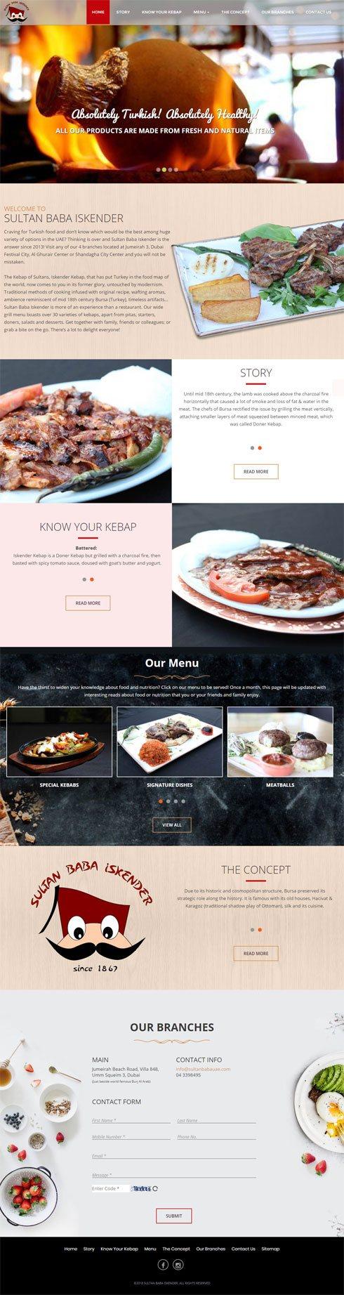 Sultan Baba Iskender United Arab Emirates Web Design