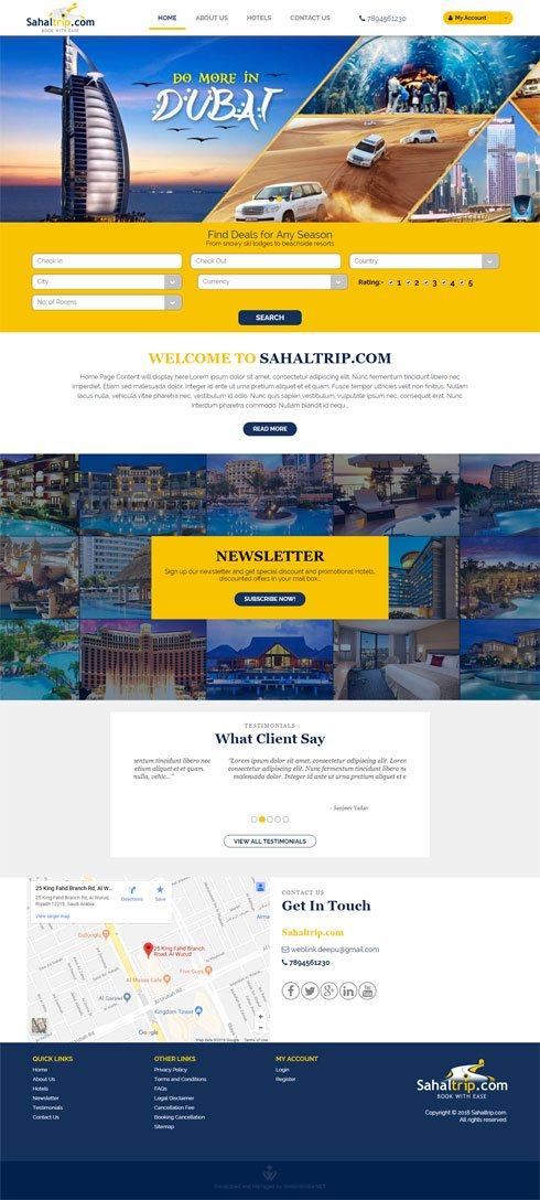 Sahaltrip.com - Web Design Portfolio