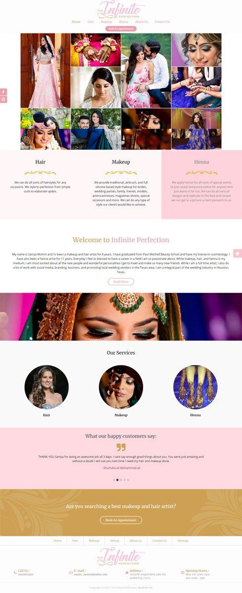 The Infinite Perfection United States Web Design