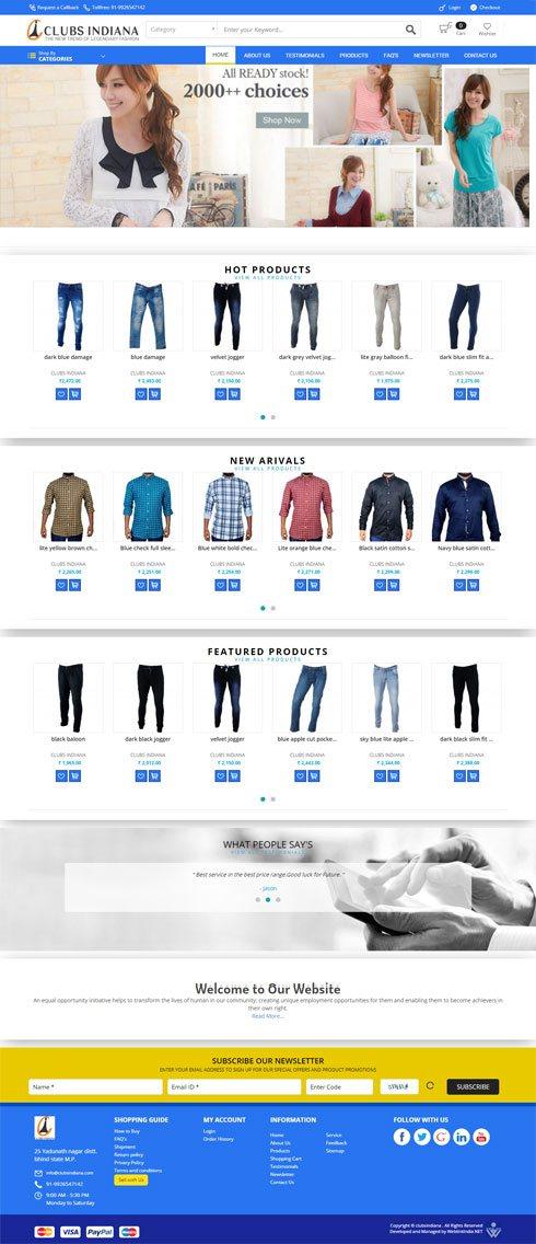 Clubs Indiana India Web Design