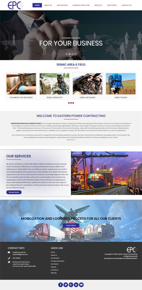 Eastern Power Contracting Saudi Arabia Web Design