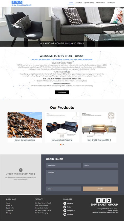 Shiv Shakti Group India Web Design