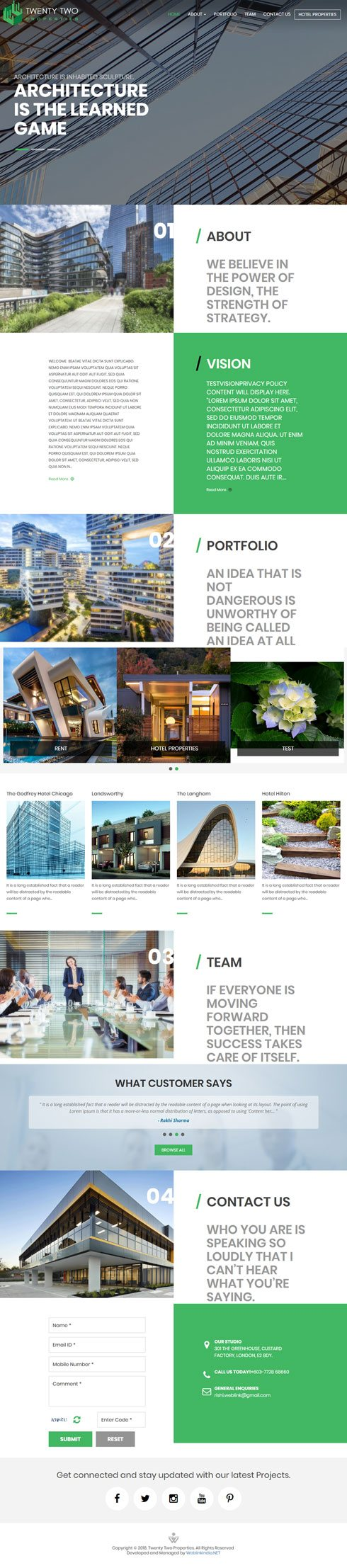 Twenty Two Properties United States Web Design