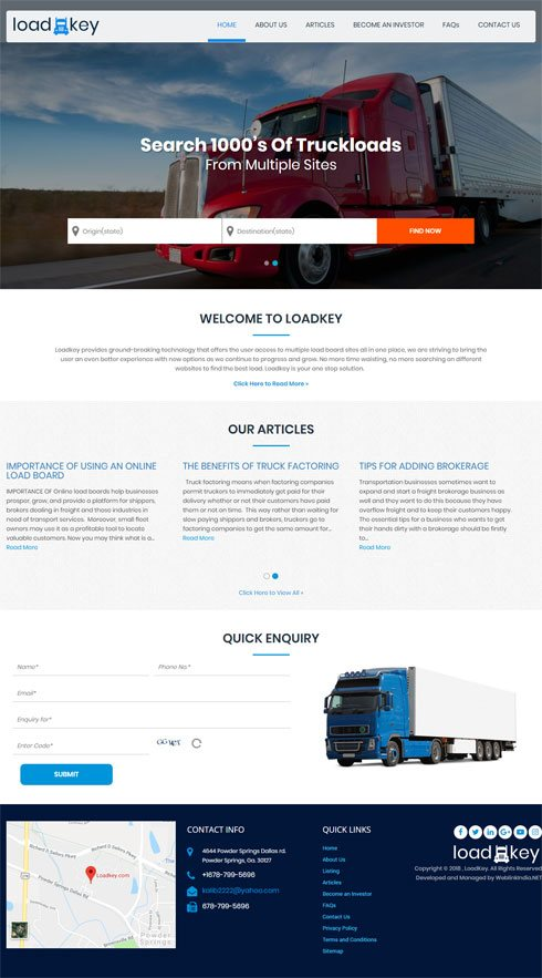 LOADKEY United States Web Design