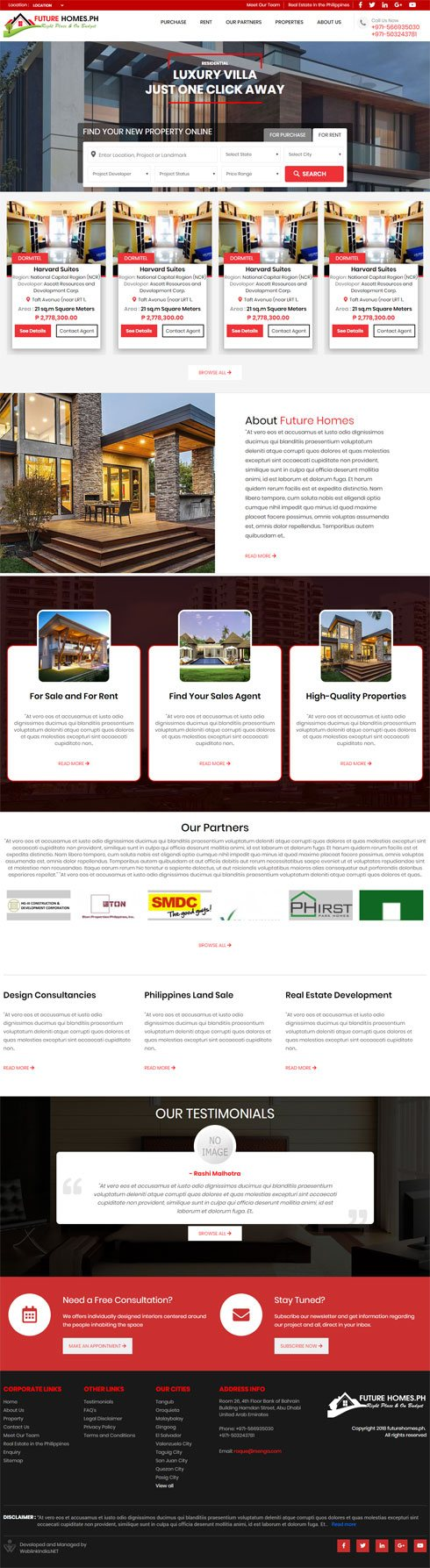 Future Homes Philippines Web Design