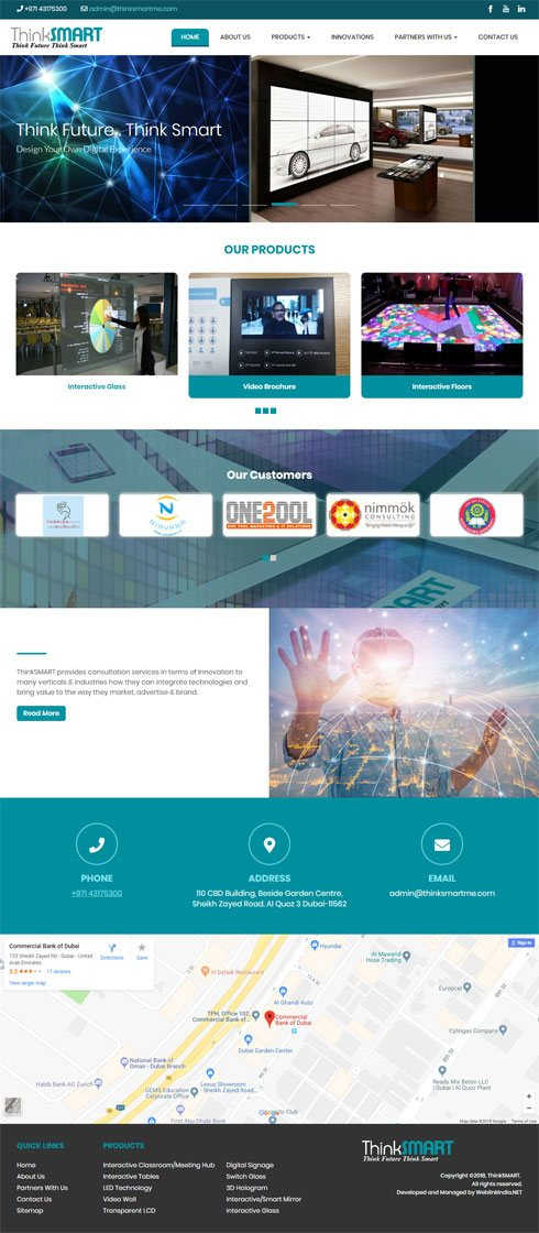 ThinkSMART United Arab Emirates Web Design