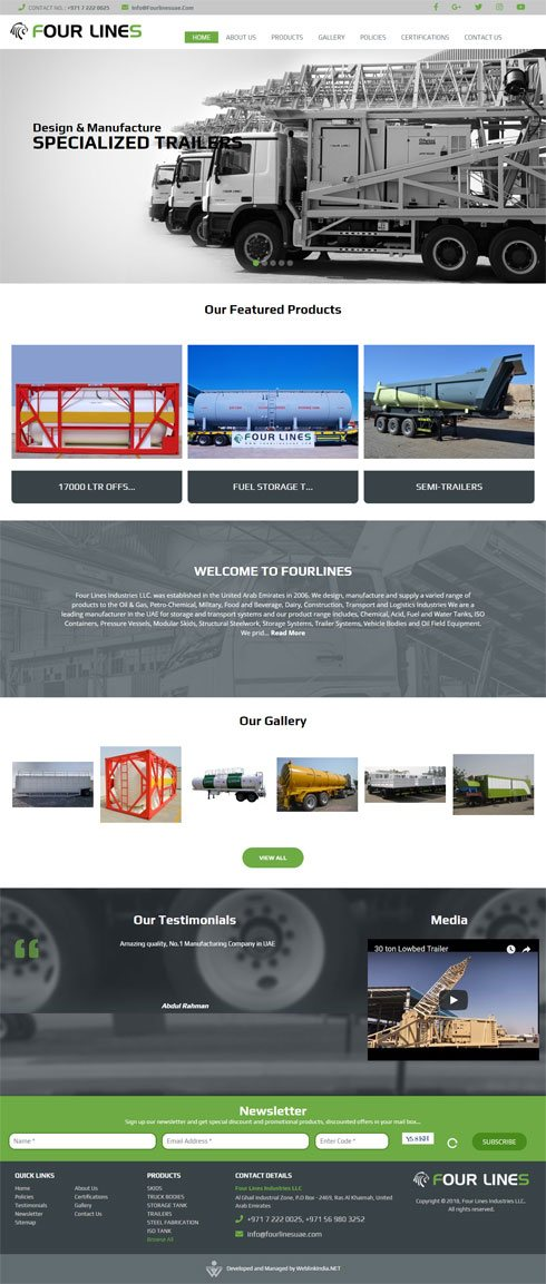 Four Lines Industries LLC  United Arab Emirates Web Design