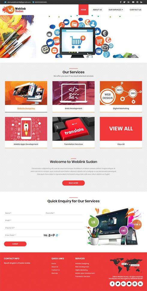 Weblink Sudan  Saudi Arabia Web Design