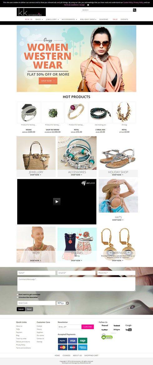 Kkacessories United Kingdom Web Design