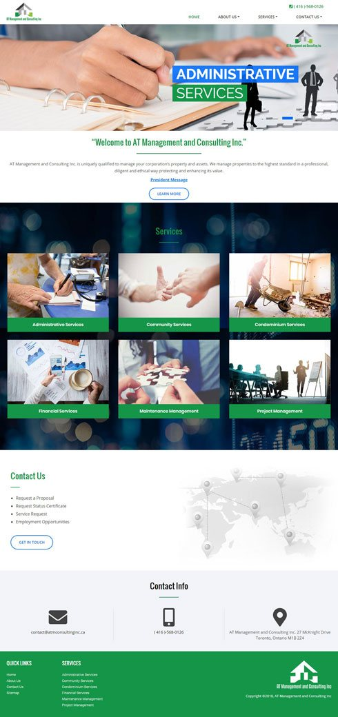 AT Management and Consulting Inc Canada Web Design