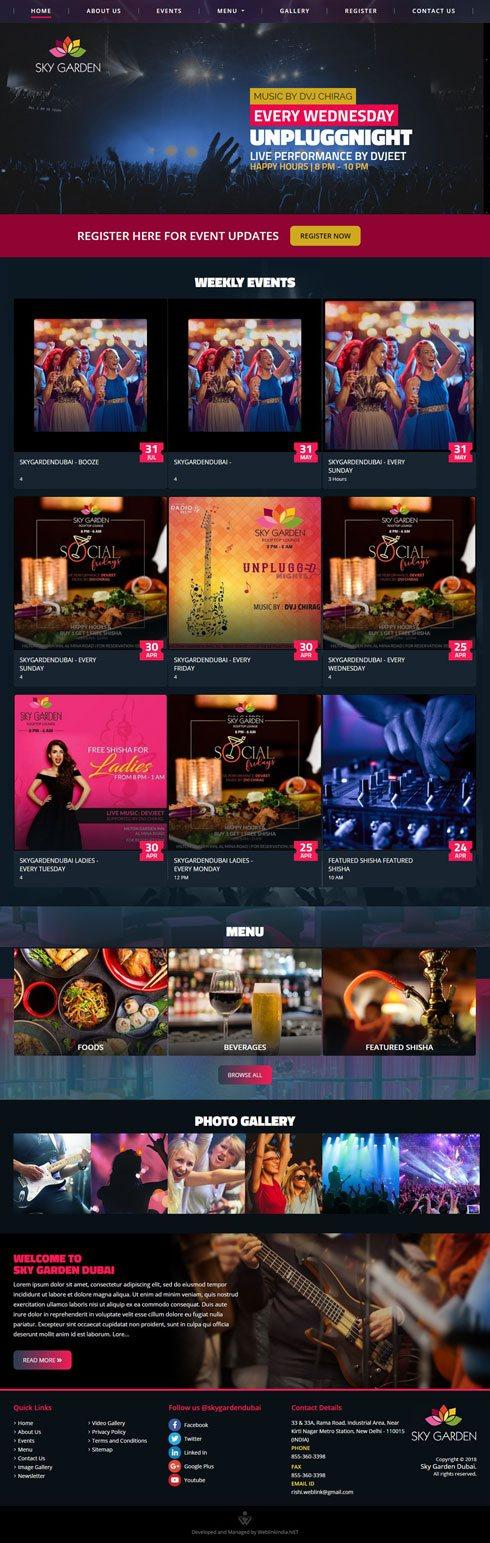 Sky Garden Dubai United Arab Emirates Web Design