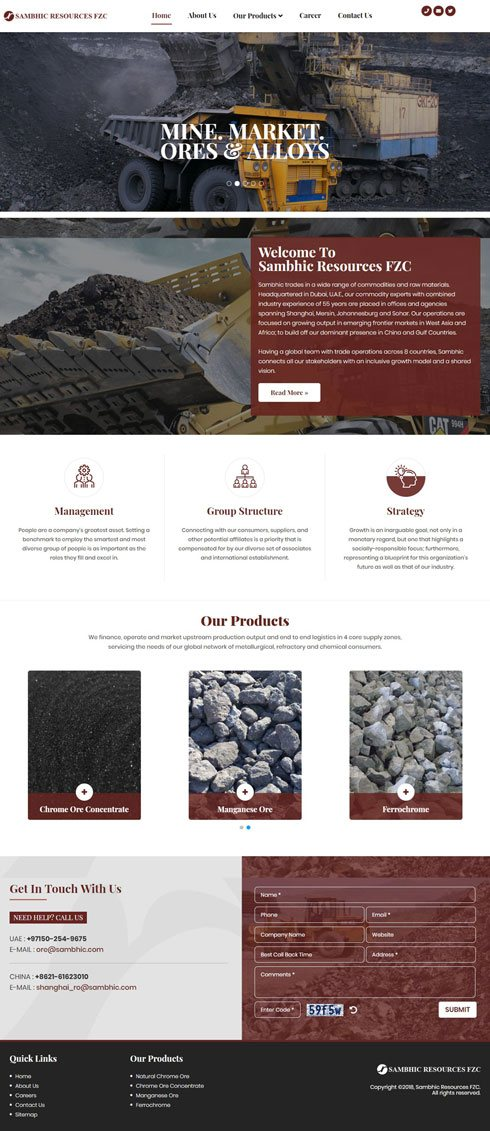 Sambhic Resources FZC United Arab Emirates Web Design