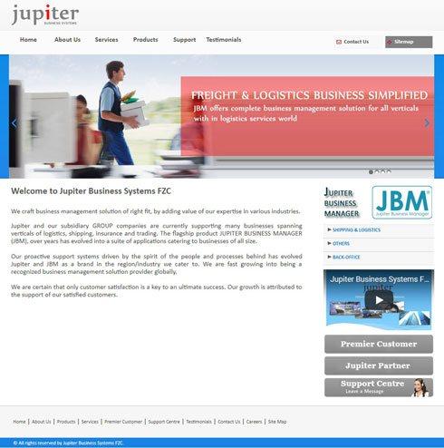 Jupiter Business Systems FZC United Arab Emirates Web Design