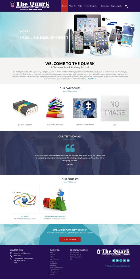 The Quark Italy Web Design