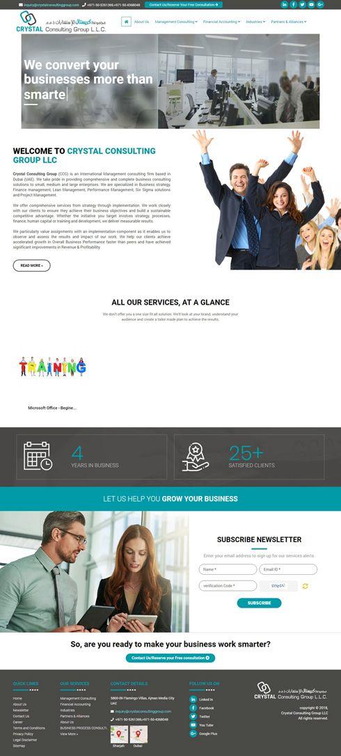 Crystal Consulting Group LLC United Arab Emirates Web Design