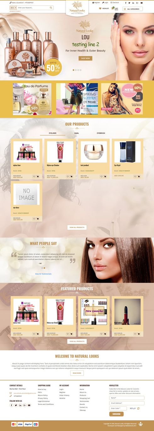 Natural Looks India Web Design