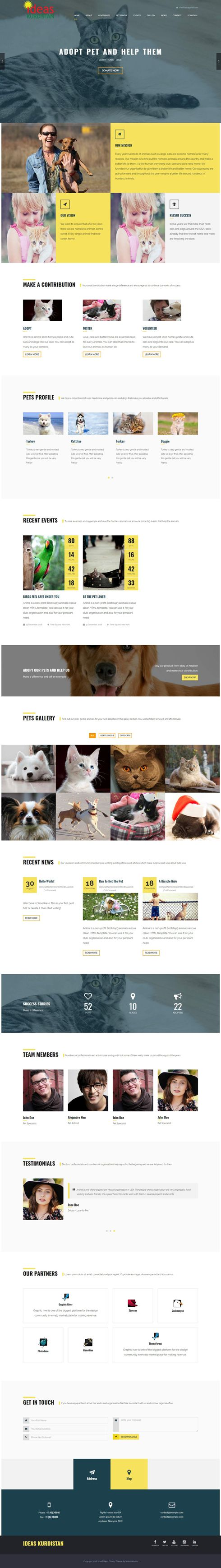 Sharif Bajo- Charity United States Web Design