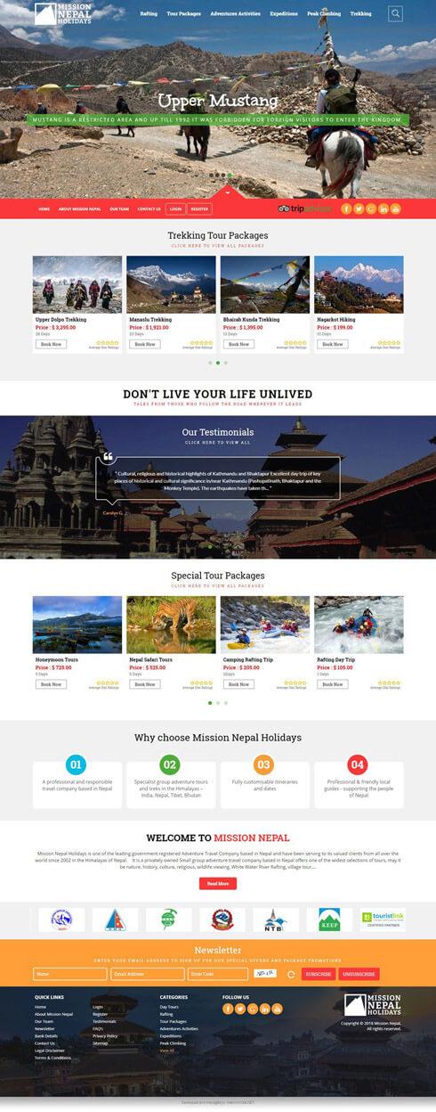 Mission Nepal - Web Design Portfolio