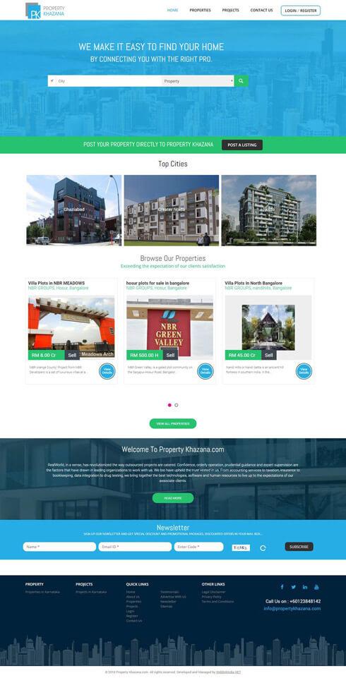 Property Khazana India Web Design