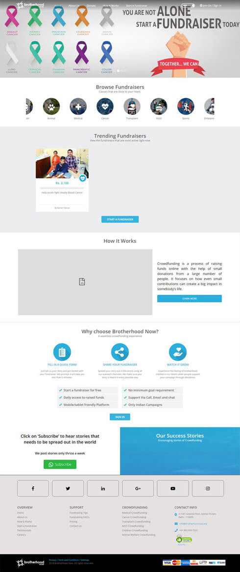 Brotherhood Now India Web Design