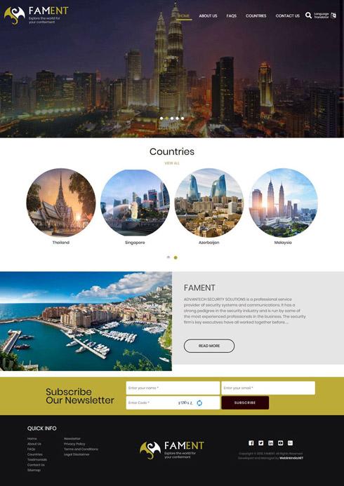 FAMENT  United Arab Emirates Web Design