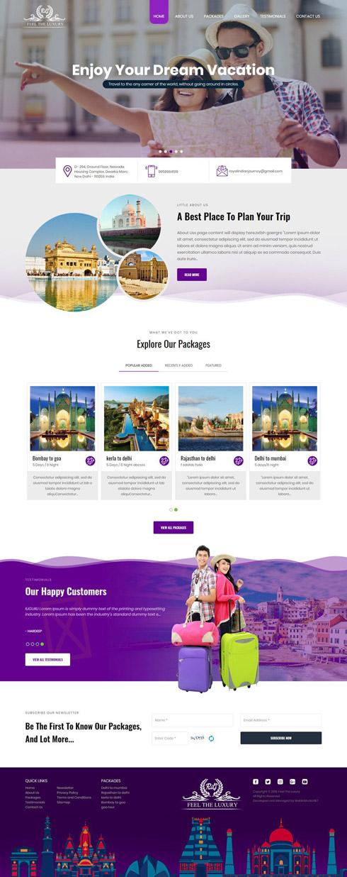 Royal Indian Journey. India Web Design