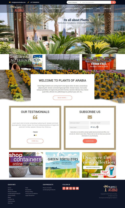Plants Of Arabia United Arab Emirates Web Design