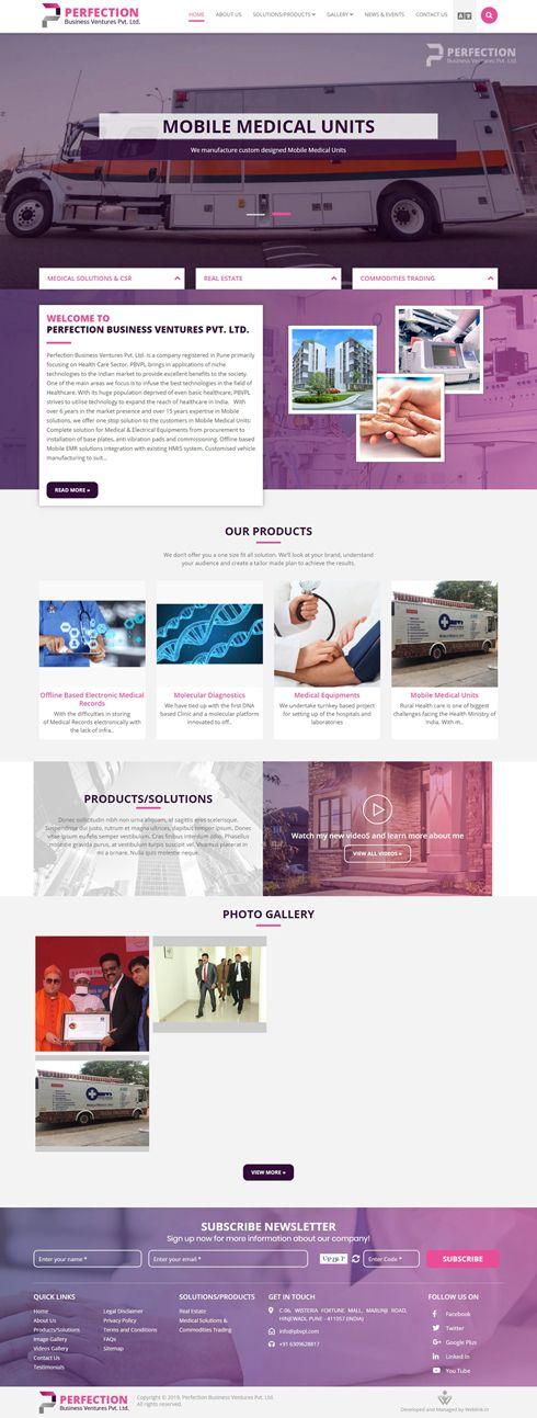 Perfection Business Ventures Pvt. Ltd. - Web Design Portfolio