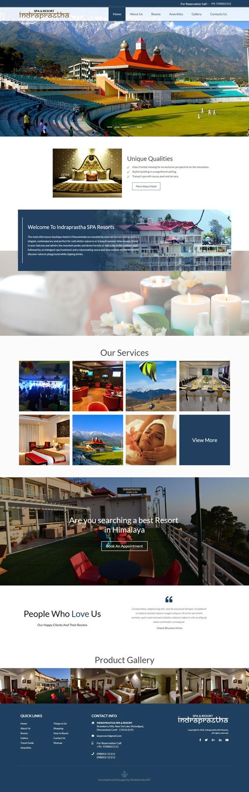 Indraprastha SPA Resorts India Web Design