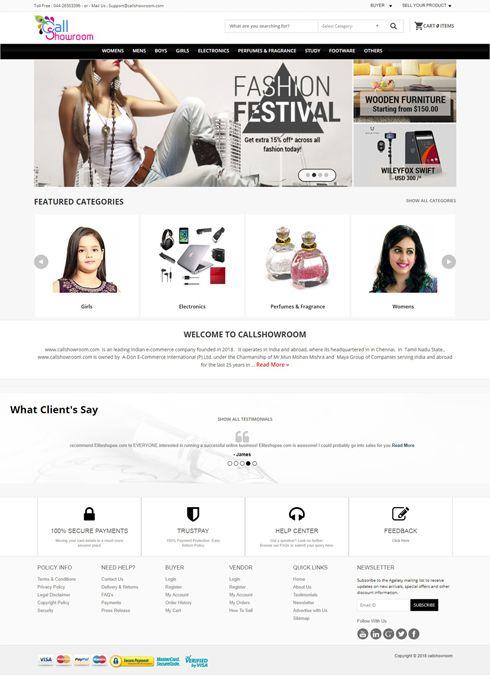 Callshowroom India Web Design