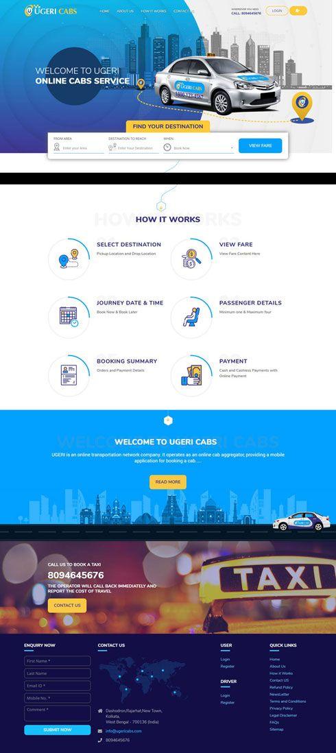 Ugeri Cabs India Web Design
