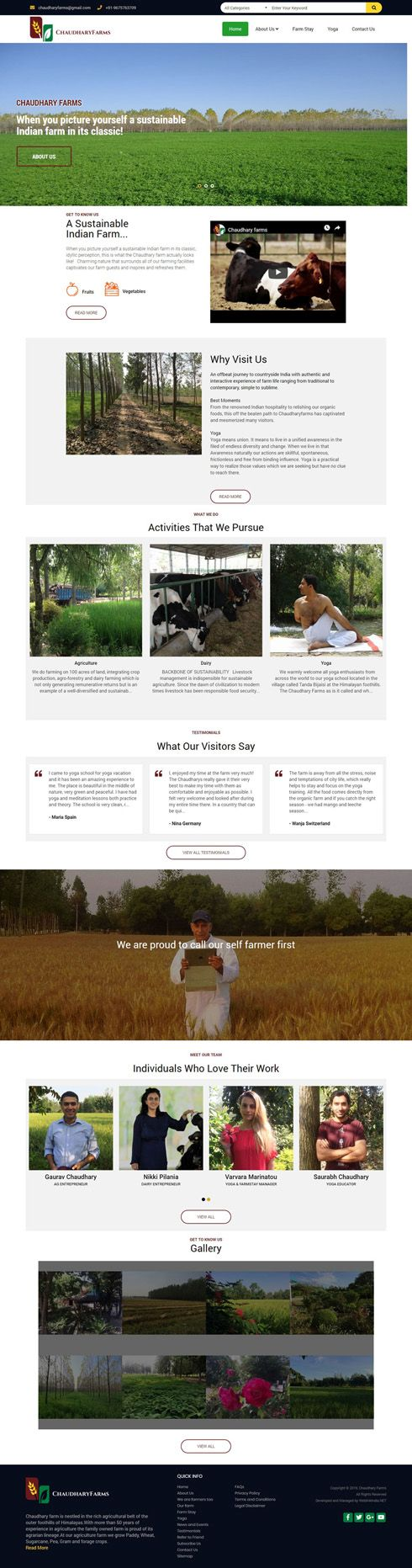 Chaudhary Farms India Web Design