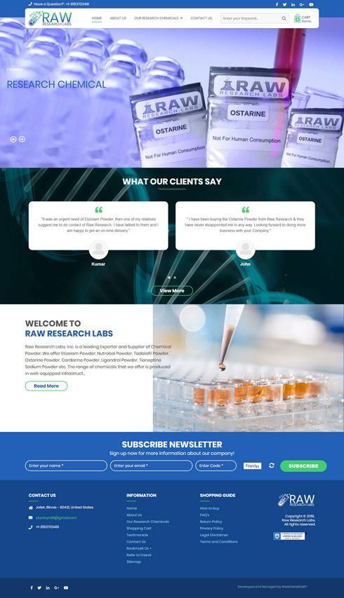 Raw Research Labs, Inc. United States Web Design