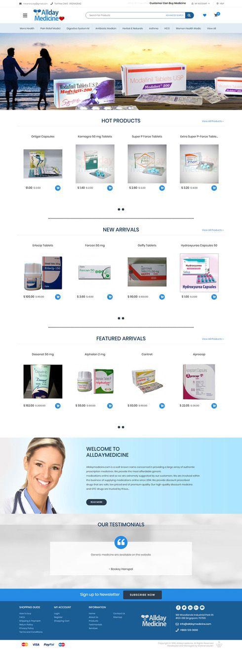 Allday Medicine Singapore Web Design