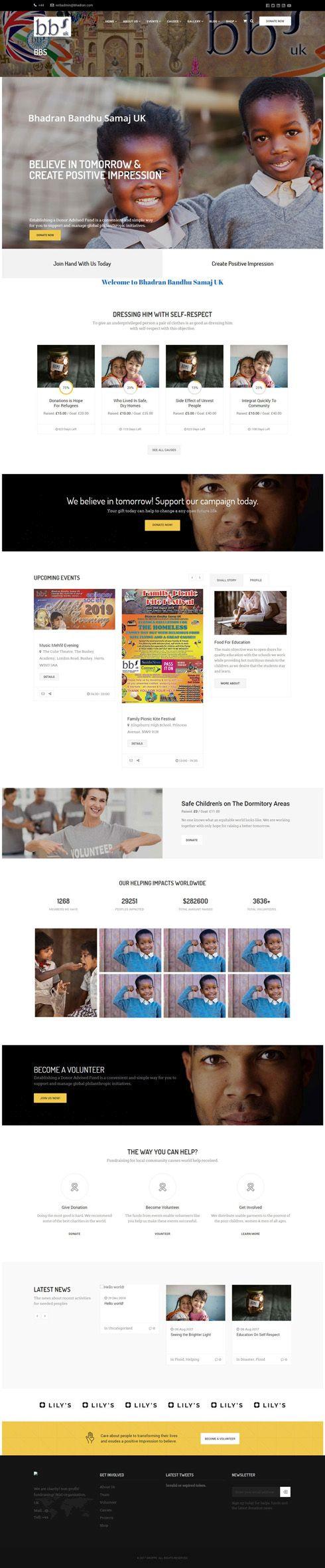 Bhadran Bandhu Samaj UK United Kingdom Web Design