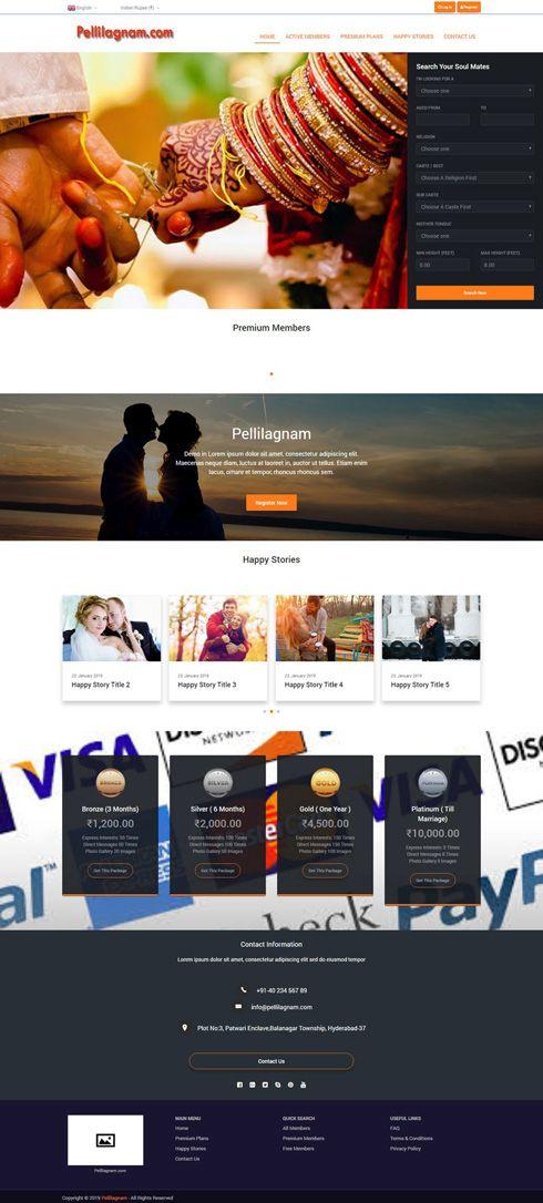 Pellilagnam India Web Design