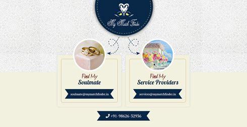 My Match Finder India Web Design