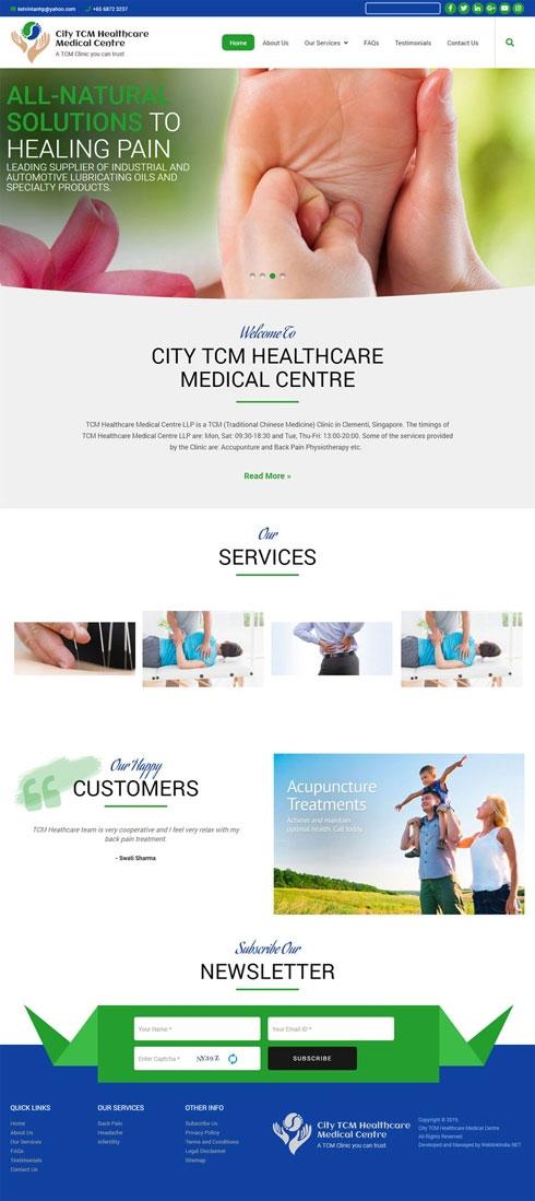 City TCM Healthcare Singapore Web Design