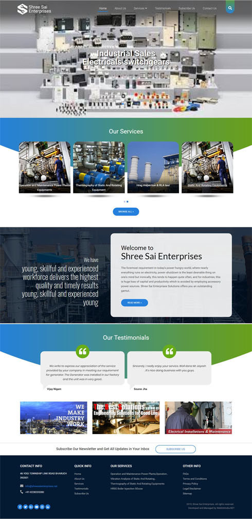 Shree Sai Enterprises India Web Design