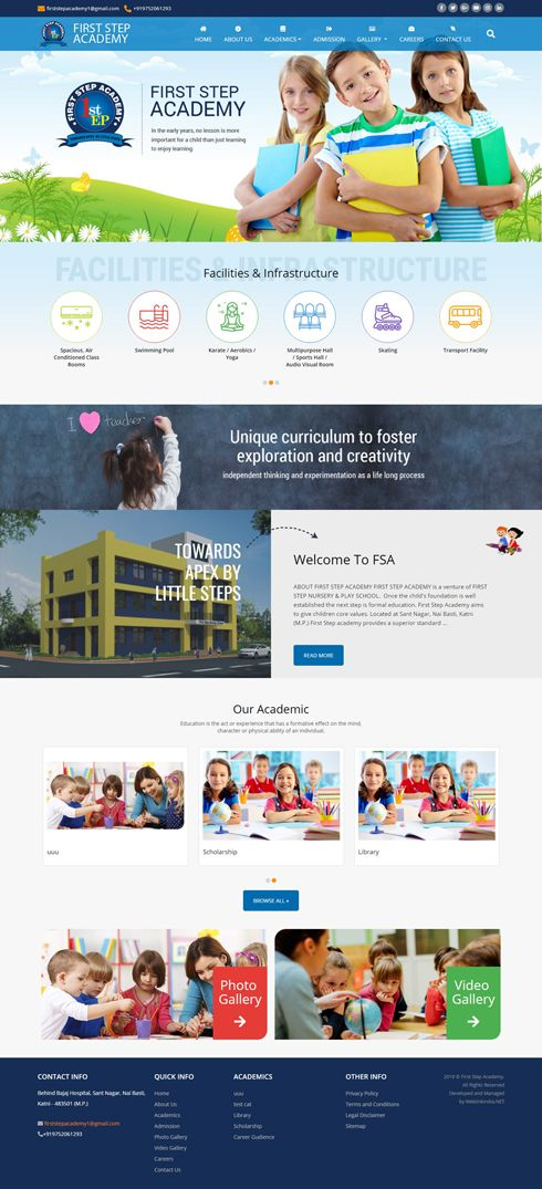 First Step Academy India Web Design