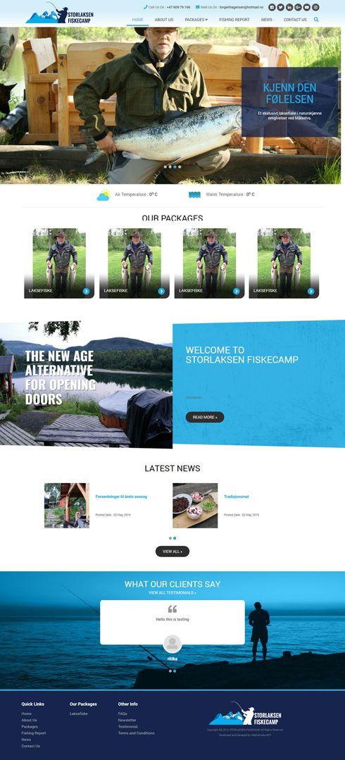 Storlaksen Fiskecamp Norway Web Design